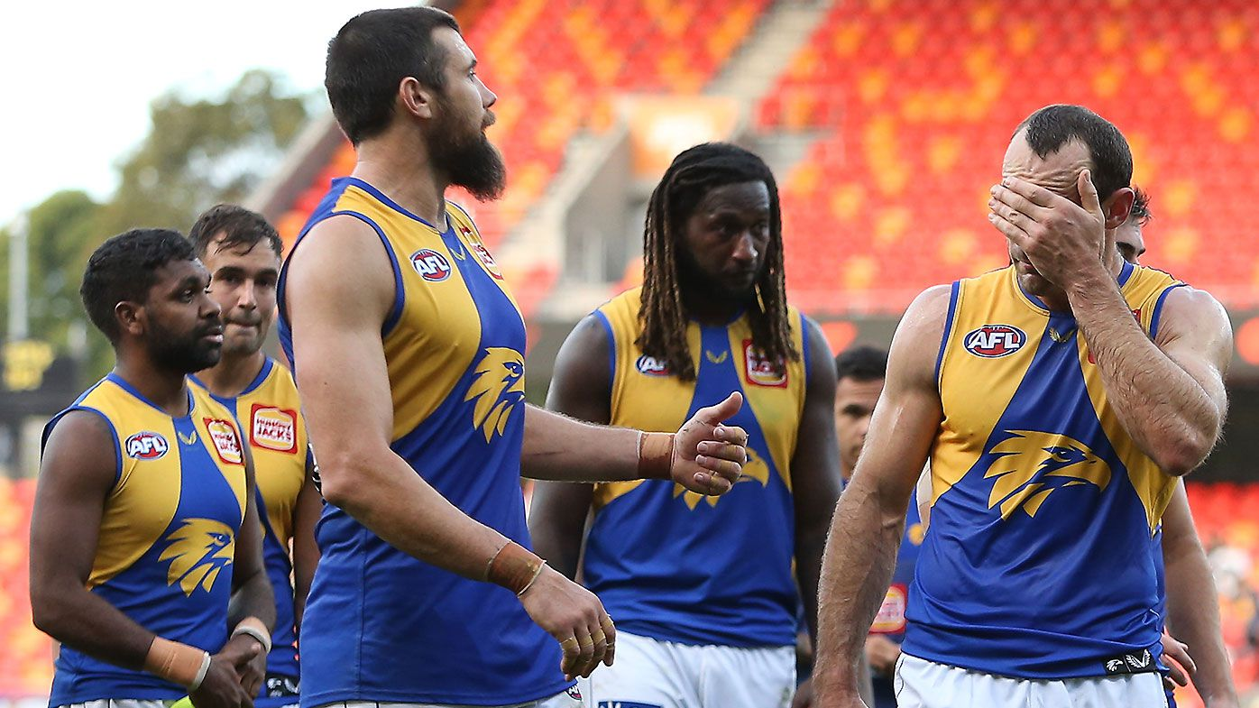 'It's a reality': Adam Simpson unbothered by West Coast Eagles' winless start on the road