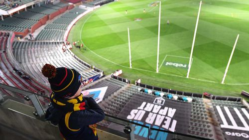 A young spectator at Adelaide Oval.