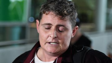Bali Nine drug smuggler Renae Lawrence arrives at Brisbane airport, Thursday, November 22, 2018, after spending 13 years behind bars in a Balinese prison.