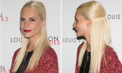 For those with poker straight locks, try Poppy Delevingne's half up, half down style.