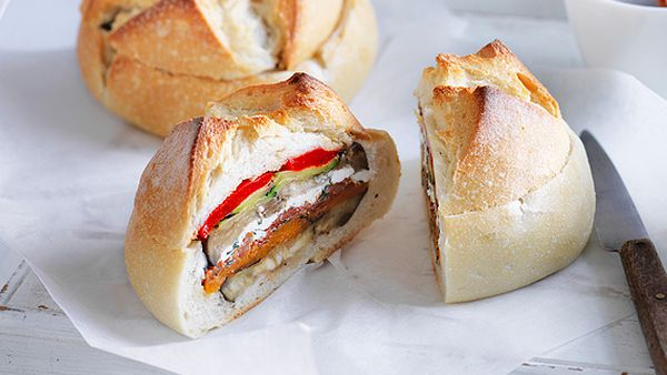 Chargrilled vegetable picnic cob