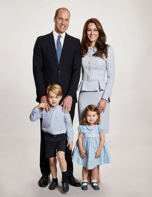 The Duke and Duchess of Cambridge have released a new photograph of their family. (Chris Jackson/Getty Images)