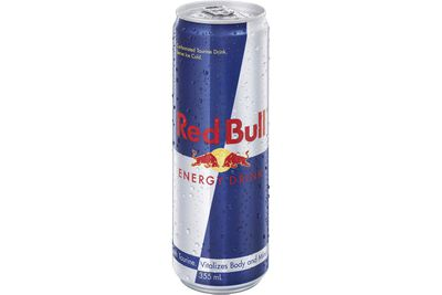 Red Bull (355ml): 39.1g sugar