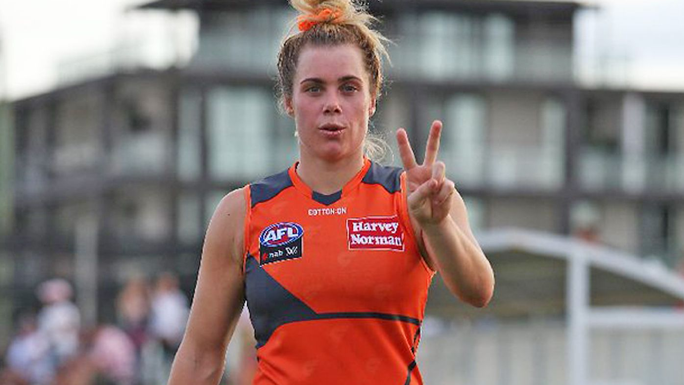 Jacinda Barclay played 23 games for the Giants