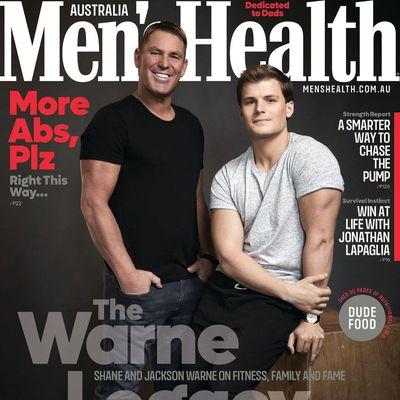 Shane Warne and Jackson Warne
