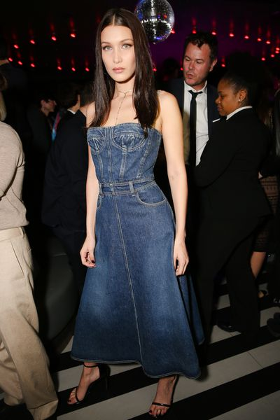 Bella Hadid rocking the denim.