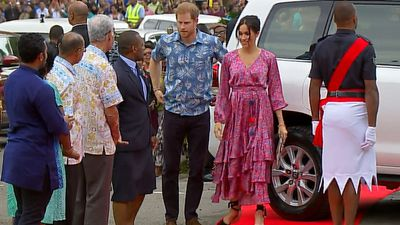 Duke and Duchess go tropical in Fiji