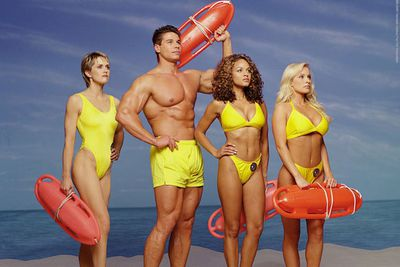 <B>The beach:</B> Shore Patrol Force 30 (a pun on SPF 30).<br/><br/>This sitcom revolved around overweight, bumbling lifeguard Notch Johnson, aided by a team of big-breasted blonde bimbos. Rife with sexual innuendo, the show poked fun at the unrealistic and often outrageous plots of <I>Baywatch</I>, which included battling serial killers, natural disasters and even nuclear bombs.