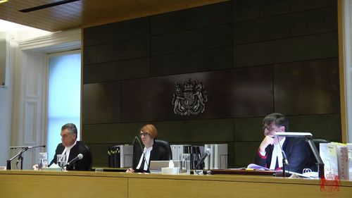 The panel hearing the appeal (from left): President of the Court of Appeal Justice Chris Maxwell, Chief Justice of the Supreme Court of Victoria Justice Anne Ferguson, Justice Mark Weinberg.