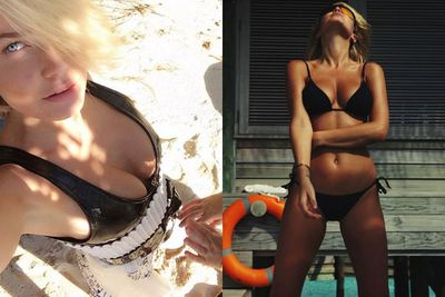 <b>Insta-followers</b>: 426k <br/><br/><b>Why she wins Instagram:</b> The Aussie <b>Kim Kardashian</b>? We think so. <br/><br/>It's no surprise to TheFIX that <b>Lara Bingle</b>'s bronzed beach shots, busty selfies and doe-eyed snaps have rustled up over 400k fans on Insta. Or perhaps it's 2014's fresh injection of loved-up snaps with beau <b>Sam Worthington</b> that got everyone clicking the follow button on her account? <br/><br/>Either way, Lara's well on her way to Kim K status. <br/>
