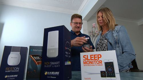Andrew and Joanne tested a range of sleep aid devices.