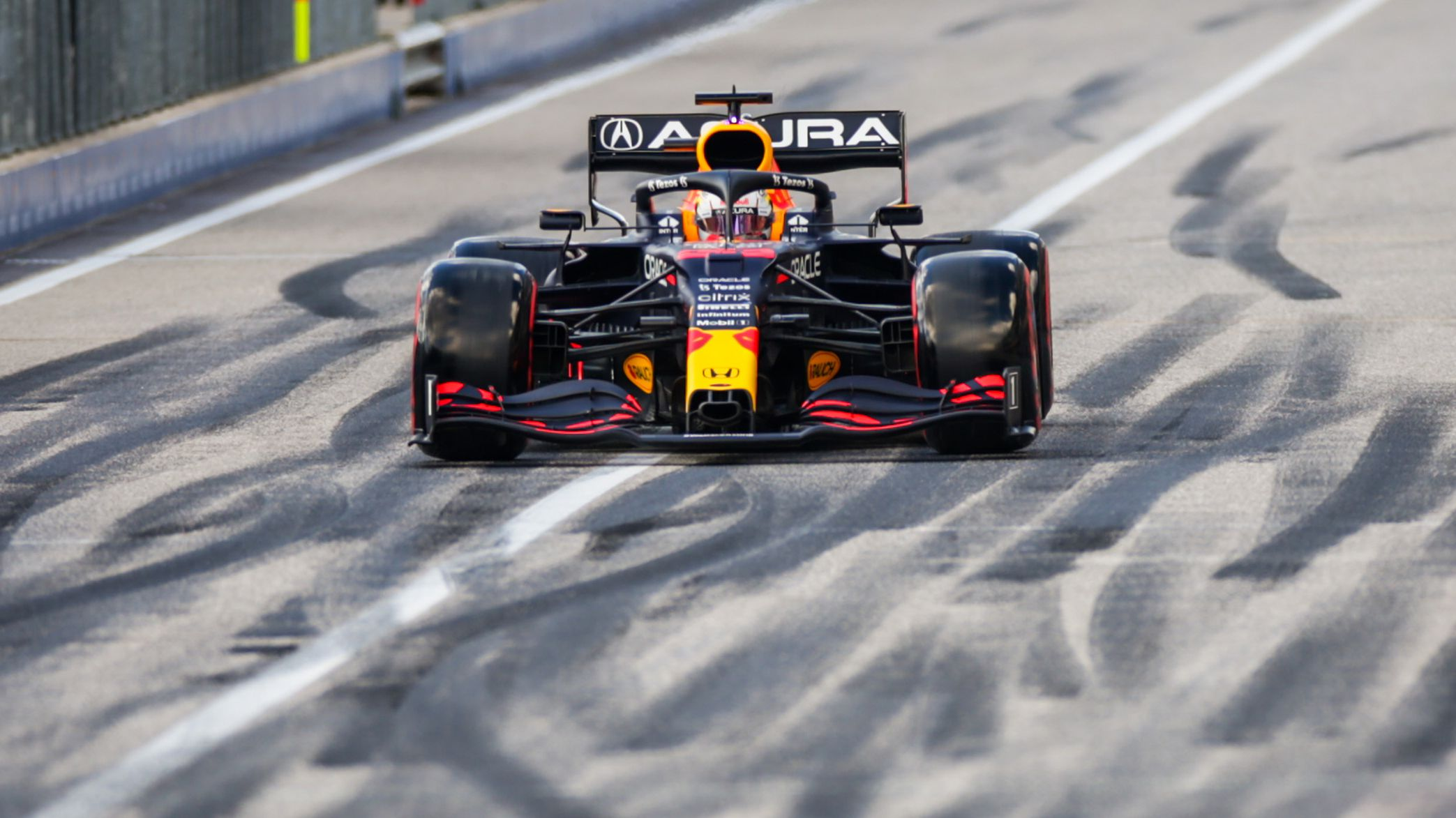 Max Verstappen of Red Bull Racing and The Netherlands  during qualifying ahead of the F1 Grand Prix of USA at Circuit of The Americas.