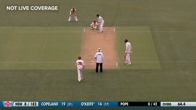 Lloyd Pope channels his inner Shane Warne with a stunning maiden first-class wicket