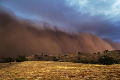 Dust storm leave NSW covered in brown