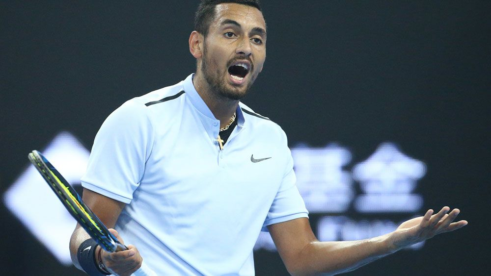 """Rafael Nadal urges combustible Nick Kyrgios to """"keep going"""" after Beijing rout"""