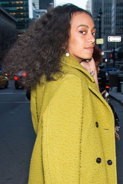 Singer Solange has become a poster girl for voluminous curly hair.