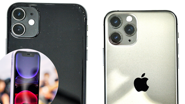 The front and back of the new iPhone 11