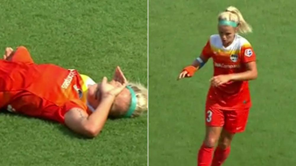English football star Rachel Daly collapses from heat illness for Houston Dash