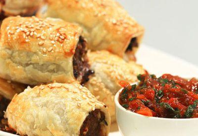 "<a href=""http://kitchen.nine.com.au/2016/05/20/09/58/lyndey-milans-spicy-lamb-sausage-rolls"" target=""_top"">Lyndey Milan's spicy lamb sausage rolls</a>"