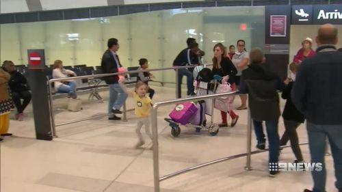 Airlines have told the father he cannot return home because of his condition. Picture: 9NEWS