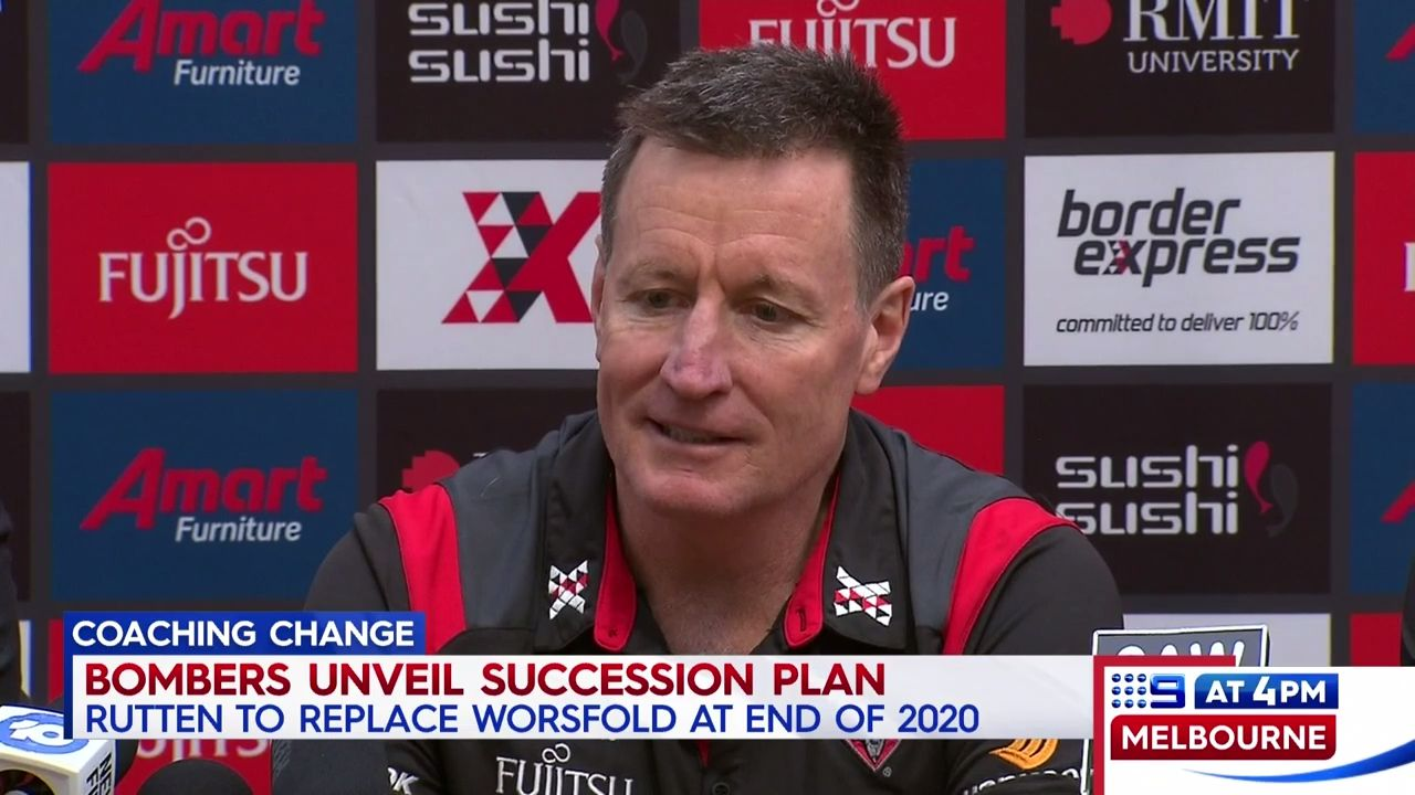Essendon announce coaching succession plan with Ben Rutten to take over in 2021