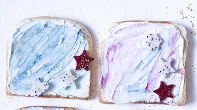 "Recipe: <a href=""http://kitchen.nine.com.au/2018/02/28/13/49/mermaid-toast-recipe"" target=""_top"">Mermaid toast</a>"