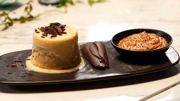Tiramisu Ice Cream with Chocolate Mousse