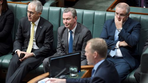 A sombre front bench after Labor took control of the house. (AAP)