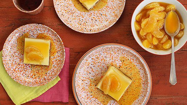 Quick cheesecake with mandarin