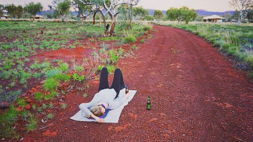 Or better yet, just lie on the dirt and take in the views.