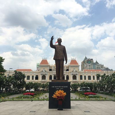 A statue of Ho Chi Minh.