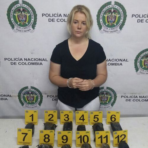 Cassie was caught attempting to smuggle 6kg cocaine out of Colombia in April last year. (Supplied)