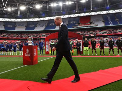 Prince William walks onto field ahead of the Emirates FA Cup Final
