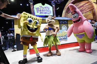 Everyone's favourite sea sponge and his friends were at San Diego Comic-Com's preview night.