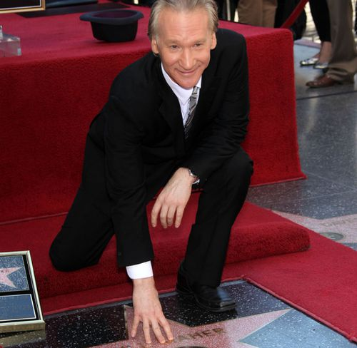 Bill Maher is honored with a star on the Hollywood Walk of Fame, Hollywood, California. (AP)