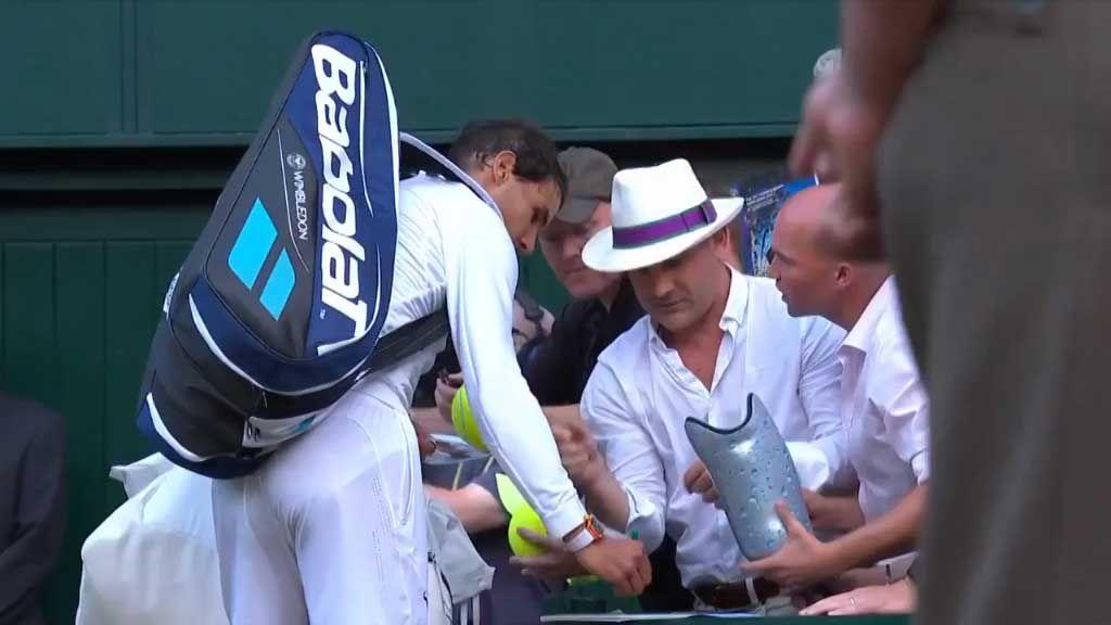 Rafa Nadal receives unusual autograph request at Wimbledon
