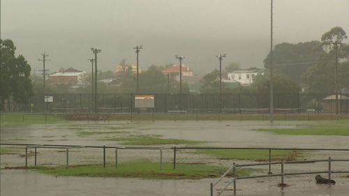 The research found that tropical areas such as Far North Queensland have been experiencing hourly rainfall extremes during storms that are up to three-times as bad as expected. Picture: 9NEWS.