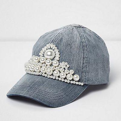 "<p>Cap it off</p> <p><strong><a href=""https://au.riverisland.com/women/accessories/hats/blue-faux-pearl-embellished-denim-cap-701865"" target=""_blank"" draggable=""false"">River Island</a></strong> embellished cap, $40</p>"