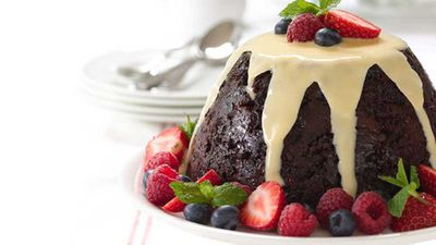 "Click through for our <a href=""http://kitchen.nine.com.au/2016/06/06/15/43/best-christmas-pudding"" target=""_top"">Best Christmas pudding</a> recipe"