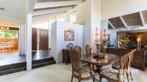 The traditional style home is three bedrooms three bathrooms. Picture: 9NEWS