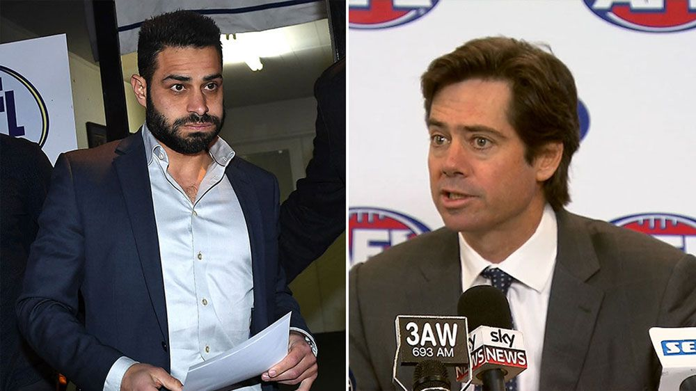 AFL chief Gillon McLachlan defends league's position on striking charges levelled at Ali Fahour