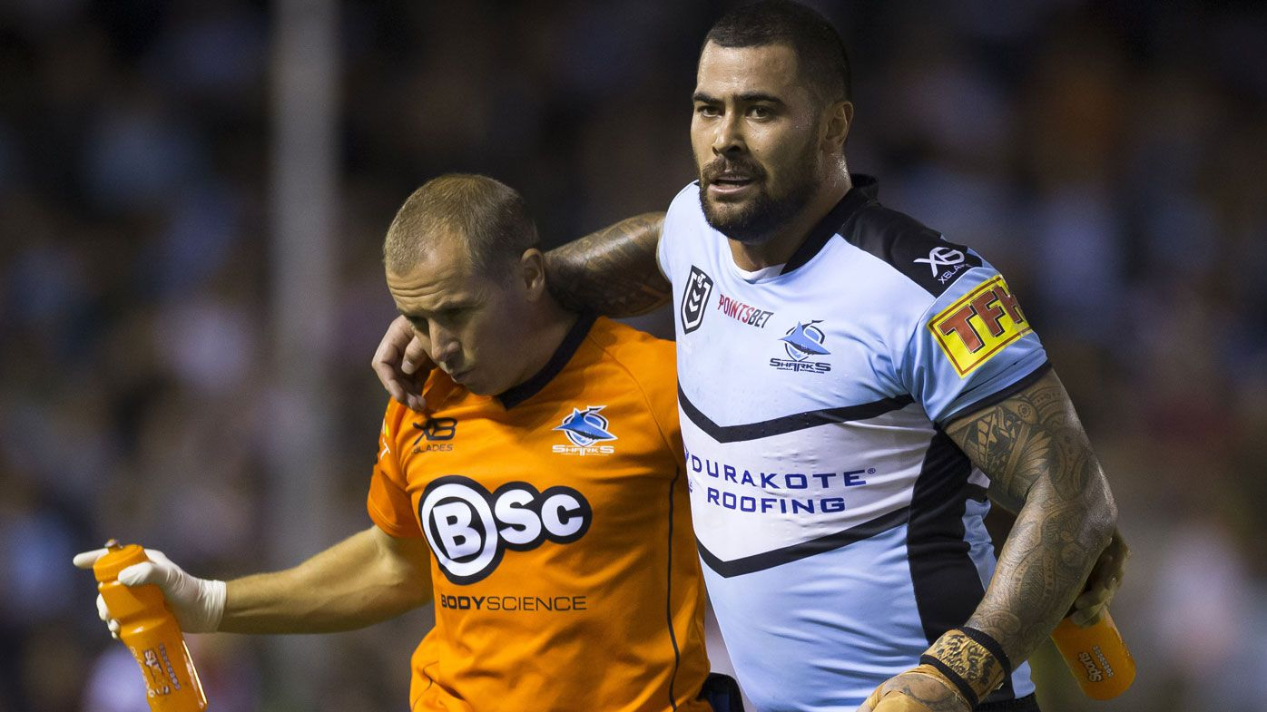 Cronulla sweat on Andrew Fifita's fitness after hamstring injury against Roosters