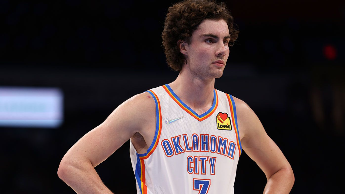 Josh Giddey #3 of the Oklahoma City Thunder