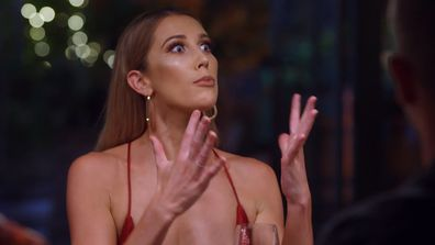 Rebecca confronts Jake about his New Year's Eve kiss with Booka