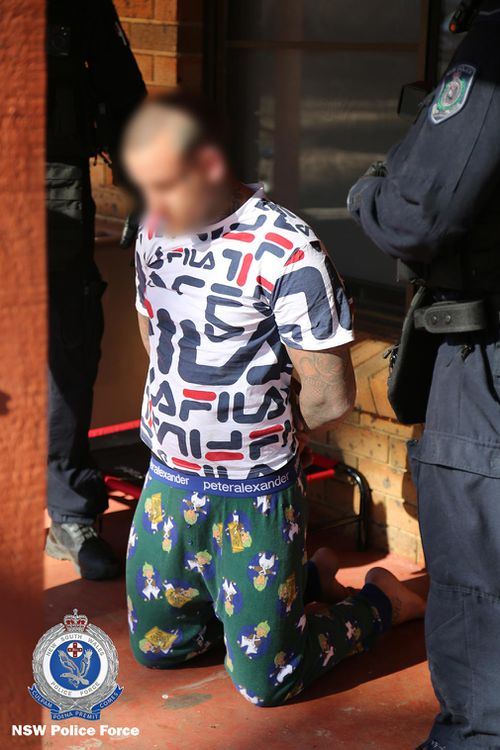 A former bikie charged over an alleged road rage incident has been granted bail to tend his pregnant French Bulldog.