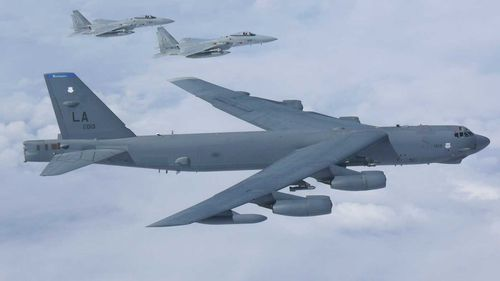 The US has sent B-52 bombers into the region.