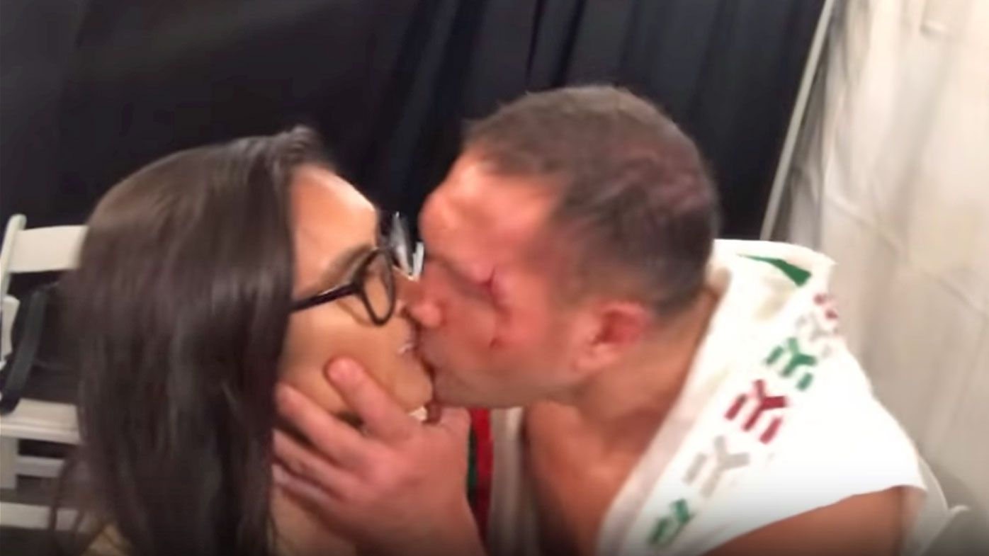 Sushe is kissed by Pulev
