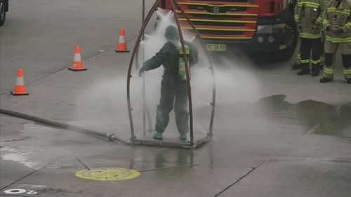 Hazmat crews were called to Sydney Airport today after a suspicious item was found.