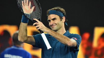 Roger Federer of Switzerland defeats Taylor Fritz of the United States.