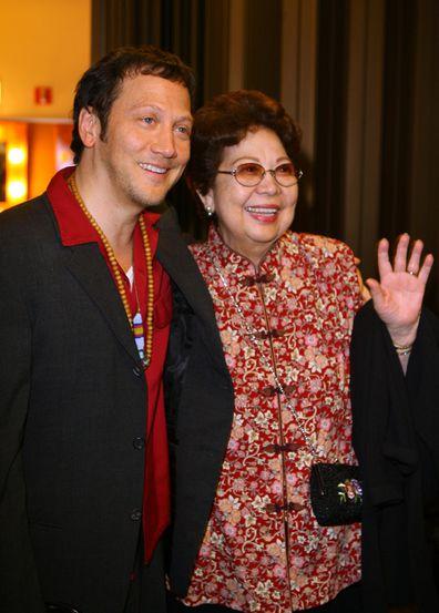 Rob Schneider and his mother Pilar Schneider